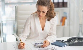 woman working in finance